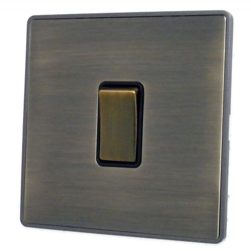 G&H LAB301 Screwless Antique Bronze 1 Gang 1 or 2 Way Rocker Light Switch